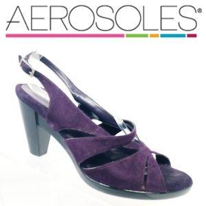 Aerosoles Women's Purple Strappy High Heels Shoes